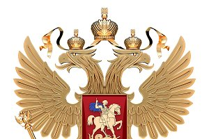 Coat of arms of Russia with eagle