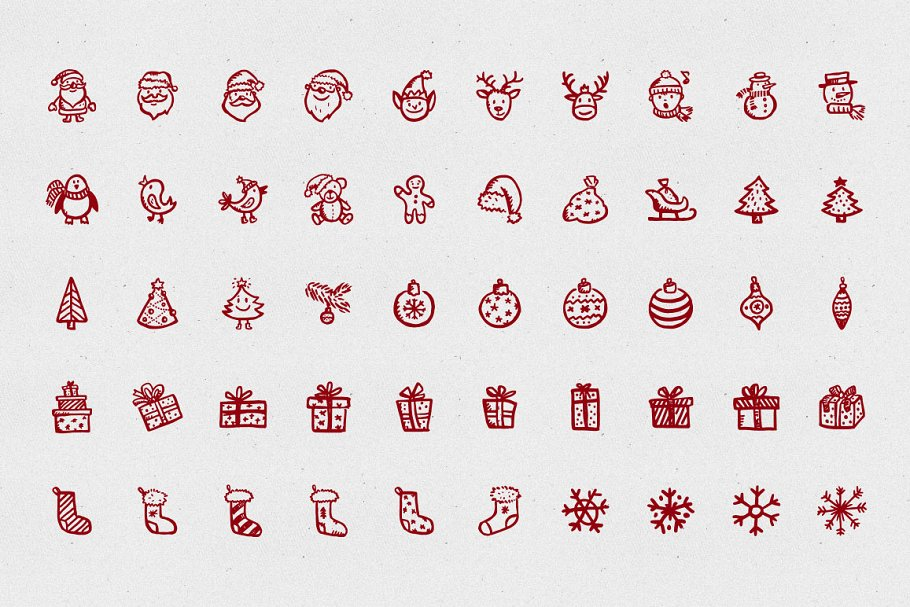 Merry Icons: 100 Christmas icons in Christmas Icons - product preview 1