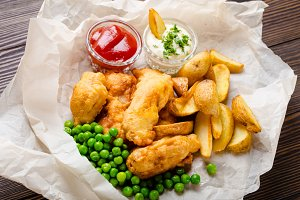 Britis fast food fish and chips