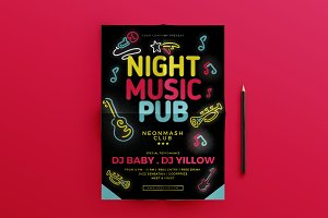 Night Music Pub Flyer