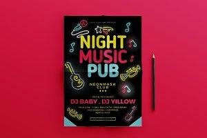 Night Music Pub Flyer