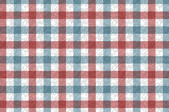 Red and blue textured tartan pattern