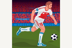 Football player with spectator area