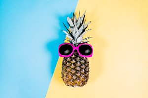 Pineapple and Pink sunglasses