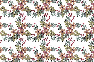 Pastel color floral seamless pattern
