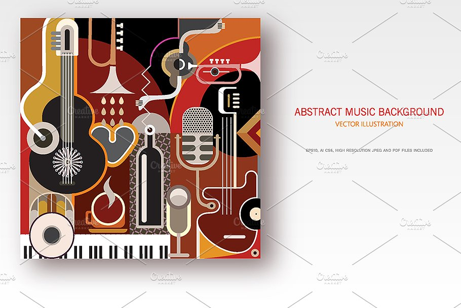Abstract Music Background in Illustrations - product preview 8