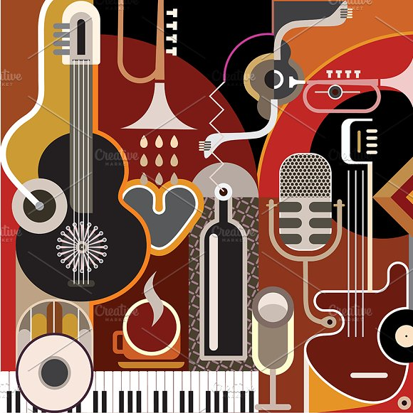 Abstract Music Background in Illustrations - product preview 1