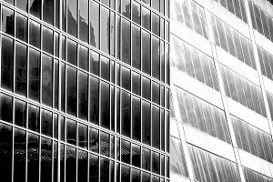 Black and white architecture pattern