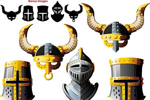 Viking & Knights helmet