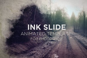 Ink Slide Animated for Photoshop