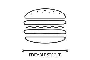 Burger cutaway linear icon