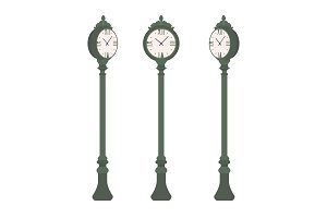 Green street clock set