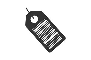 Barcode label glyph icon