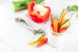 Yogurt and vegetable appetizer