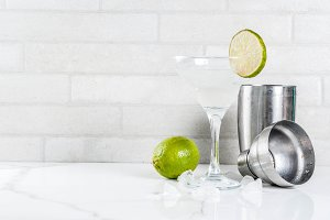 Lemon margarita cocktail