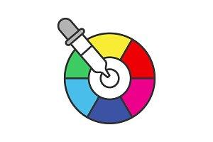 Color picker tool icon