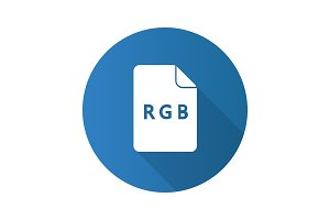 RGB color model flat design long shadow glyph icon