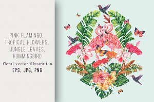 Tropical paradise illustration