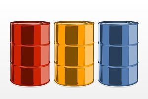 Steel Oil Barrels
