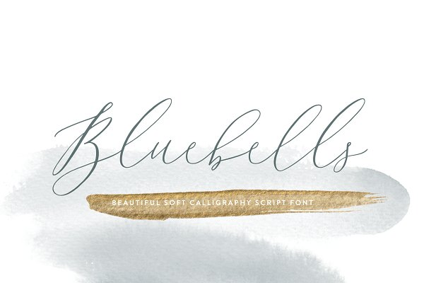 Script Fonts: Susan Brand Design - Bluebells Script