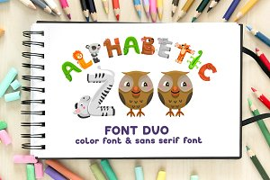 Alphabetic Zoo - font duo