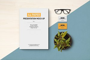 A4 Paper, Poster and Flyer  mock-ups