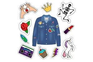 Patches denim jacket