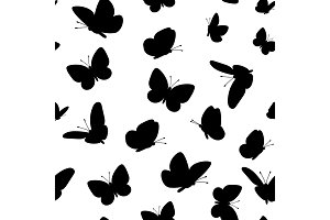 Black butterfliesseamless pattern