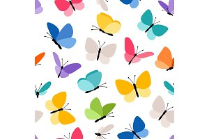 Cute seamless butterfly pattern