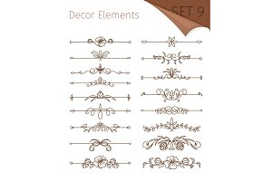 Ornate retro floral dividers