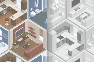 pattern with isometric rooms