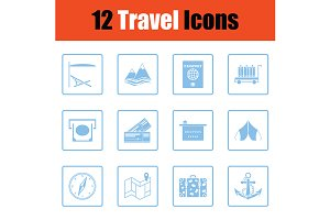 Travel icon set