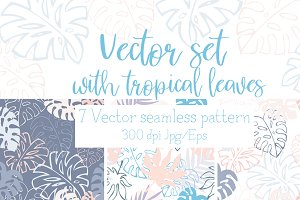 Vector set with tropical leaves