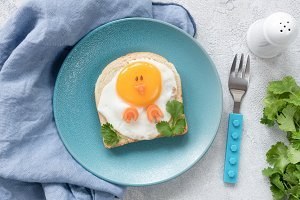 Creative food art breakfast for kids