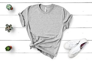Bella Canvas TShirt Mockup Athletic