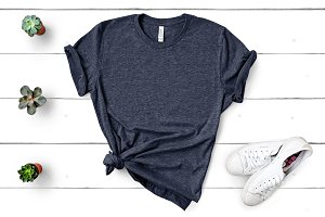Bella Canvas TShirt Mockup Navy