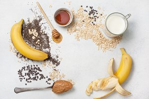 ingredients for overnight oatmeal