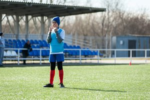 Boy soccer player