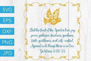 Fruit of the Spirit SVG Bible Verse