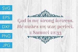 God is my Fortress SVG Scripture SVG