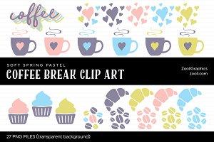Coffee Break Pastel Clip Art