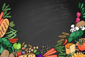 Food italian menu background