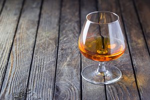 Glasse of brandy or cognac