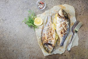 Grilled fish Dorado