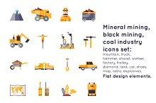 Mineral mining, black mining.