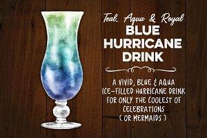 Tropical Blue Hurricane Drink