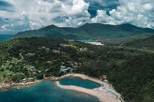 Aerial view of Koh Phangan, Thailand by Roma Black in Nature