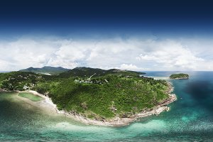 360 panorama, Top view of beautiful lanscape over island