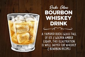 Bourbon Whiskey Drink on Ice