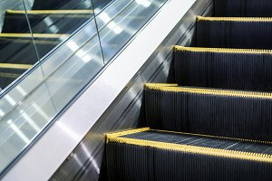 Escalator in the department store